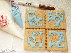 flower cookies tutorial Polish Cookies, Cookie Tutorials, Nail Polish Art, Flower Cookies, My Nails, Sugar, Desserts, Flowers, Food