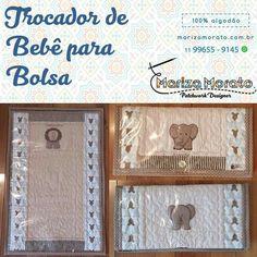 Safari Trocador de Bebê de Bolsa R$50,00 Forro plástico removível http://marizamorato.com.br/produto/trocador-de-bebe-de-bolsa/ Whats App (11) 99655 9145