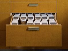 Tip #3: Use containers that fills out the space in your drawers   - See more at: http://www.godownsize.com/5-tips-for-downsizing-your-kitchen/#sthash.3FXJECBm.dpuf