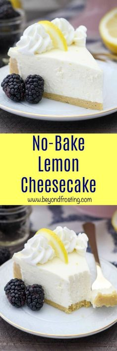 This classic No-Bake Lemon Cheesecake is a light and airy lemon cheesecake filling with a lemon Oreo cookie crust. This is the perfect summer dessert when you don't want to turn on the oven. This lemon dessert is ALL-TIME. #nobake #nobakecheesecake #lemon #lemoncheesecake