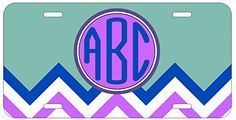 Personalized Monogrammed Chevron Turquoise Car License Plate Auto Tag Top Craft Case http://www.amazon.com/dp/B00LOWRYXE/ref=cm_sw_r_pi_dp_ztptub1SPTR50