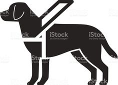 Guide dog sign Сток Вектор Стоковая фотография