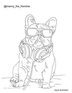 Colouring Book Bulldog By JoyceIllustration