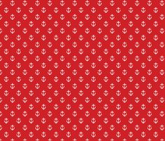 Red Anchors - sweetzoeshop - Spoonflower