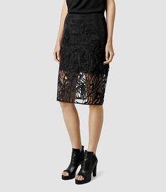 £148 Women's Iree Skirt (Black) - product_image_alt_text_3
