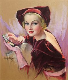 Vintage Cover for Cosmopolitan Magazine by Bradshaw Crandell - beautiful woman illustration art