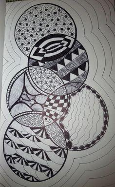 Zentangle Circles by: Tina Lonabarger