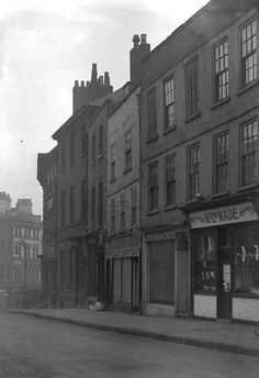 "Dr Evelyn's caption: ""No 24 Micklegate. My abode till Visible are Mrs Wade, Fancy Draper, Wiseman & Willis and J Dodsworth & Sons. Photograph: YAYAS, the Evelyn Collection Old Bar, Duke Of York, Disorders, The Past, Death, History, City, Caption, Illustration"