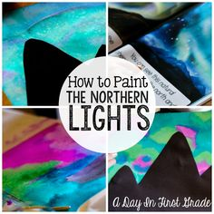 How to paint the northern lights- this is an amazing tutorial!