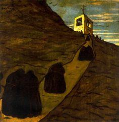 Subir al monasterio - Giorgio de Chirico