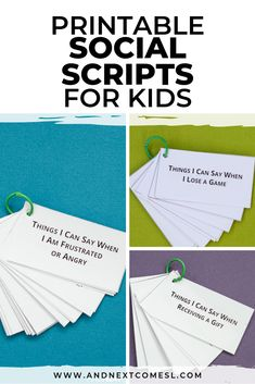 Social Skills 305189312251866103 - Scripting is helpful for many autistic and hyperlexic kids and these printable social scripts are a great way to help kids develop language and conversation skills. Lots of free printables too! Source by andnextcomesL Social Skills Lessons, Social Skills Activities, Teaching Social Skills, Autism Activities, Autism Resources, Coping Skills, Life Skills, Shape Activities, Counseling Activities