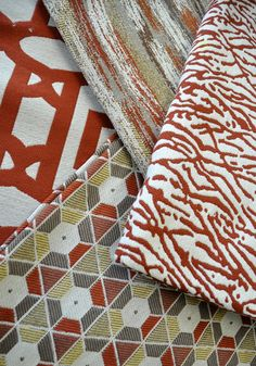 Bright indoor/outdoor fabrics from our New Horizon collection