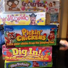 Board game Sunday!! Play testing all these today with four very excited children.