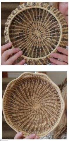 how to make pine needle baskets shared at Katherines Corner