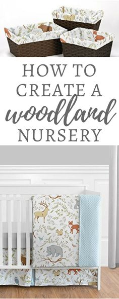 How to Create a Woodland Nursery - Woodland Themed nurseries are perfect for minimalist moms, slightly crunchy moms, or moms who just wants to have a little whimsical nursery. #ad #affiliate http://amzn.to/2CKteuT