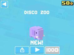 Just unlocked Disco Zoo! #crossyroad
