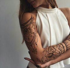 Henna Tattoo selber machen -schulter-oberarm-mode