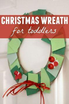 Toddler Approved!: Toddler Christmas Wreath Making Station #Christmas #DIY #toddler
