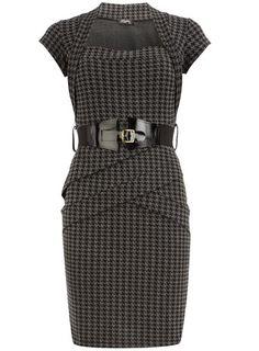 Houndstooth print dress