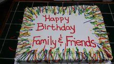 Amy's Crazy Cakes - Colorful Family Birthdays Cake