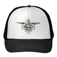 Superman Stylized | Skulls Logo. Producto disponible en tienda Zazzle. Accesorios, moda. Product available in Zazzle store. Fashion Accessories. Regalos, Gifts. #gorra #hat #heroe #hero #american