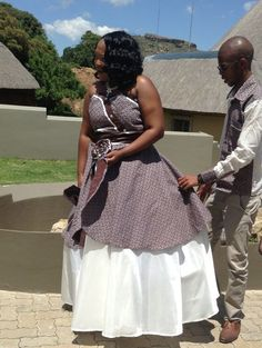 Tswana Traditional Wedding / Dresses And Wear ⋆ African Wedding Dress, African Print Dresses, African Fashion Dresses, African Dress, African Attire, African Style, South African Traditional Dresses, African Traditional Wedding, African American Brides