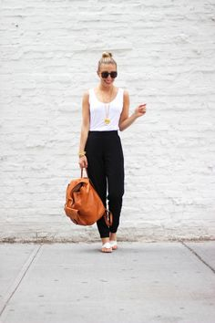 """NYDJ worn by Blogger Julia from http://lemonstripes.com/fashion/hola/. """"My fave black and white"""""""