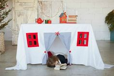 Playhouse tablecloth nautical play house play tent by HomeOfNature