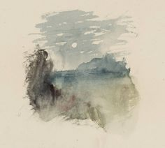 Joseph Mallord William Turner, 'Vignette Study for 'Lord Ullin's Daughter', for Campbell's 'Poetical Works'' circa 1835-6 (J.M.W. Turner: Sk...