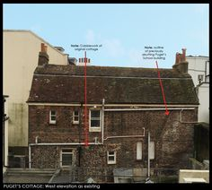 Puget's Cottage, Brighton: 17th C Cottage engulfed by development and hidden from public view for over 140 years.