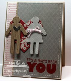 A Project by lisahenke from 2 Peas Stamping Cardmaking Galleries originally submitted at AM Valentine Day Cards, Valentines, Valentine Ideas, Boy Meets Girl, Cardmaking And Papercraft, Mft Stamps, Diy Cards, Homemade Cards, Card Making