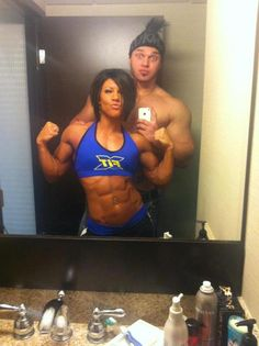 Dana Linn and Rob Bailey! Couples that workout together, stay together!~It's sometimes easier to stick to a plan when you have a workout buddy or support group.