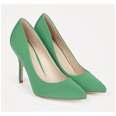 Justfab Pumps Laken (2,660 INR) ❤ liked on Polyvore featuring shoes, pumps, green, green platform pumps, high heel platform shoes, justfab, green platform shoes and pointed high heel pumps