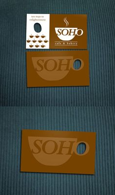 Have a coffee business? Make your business card so you can hold it like a coffee cup