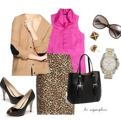 Hi Sugarplum   Leopard & Hot Pink outfit...everything on sale!