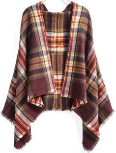 Red Classical Plaid Scarf