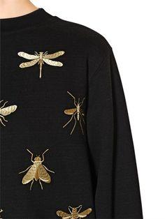 Lanvin | Embellished Cotton Terry Sweatshirt