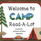 Camp Read-A-Lot Sign  Place this in your room or outside your door! This will look great during your camp Read-A-Lot, or in your Camping Theme Clas...