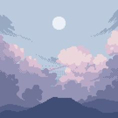 just a little cloud practice Aesthetic Themes, Aesthetic Art, Aesthetic Anime, Aesthetic Backgrounds, Aesthetic Iphone Wallpaper, Aesthetic Wallpapers, Animes Wallpapers, Cute Wallpapers, Arte 8 Bits