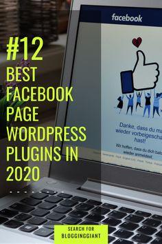 Facebook Business, Facebook Marketing, Social Media Marketing, Best Facebook Pages, Build Your Own Website, Wordpress Plugins, Blogging For Beginners, Make Money Blogging, Web Development