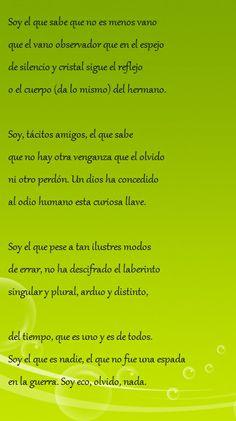 Soy - Poemas de Jorge Luis Borges