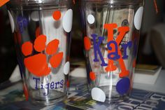 Clemson Tigers acrylic tumbler