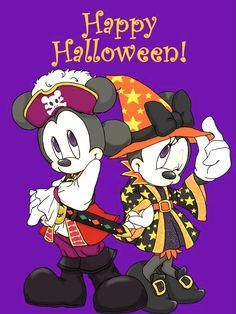 Snoopy Halloween, Minnie Mouse Halloween, Halloween Art, Happy Halloween, Disney Cartoon Characters, Disney Cartoons, Cartoon Art, Arte Do Mickey Mouse, Mickey Mouse And Friends