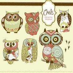 Owls Clip Art II - Luvly Marketplace | Premium Design Resources #owl #clipart #design
