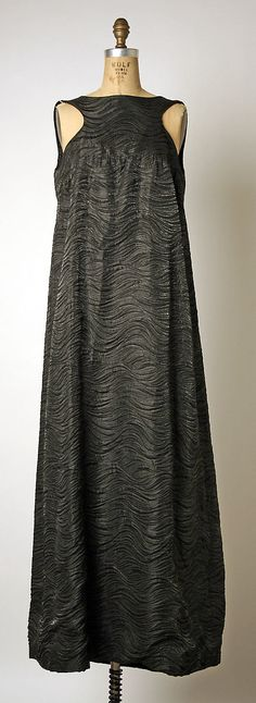 1960s Pierre Cardin Evening dress Metropolitan Museum of Art, NY See more museum vintage dresses at http://www.vintagefashionandart.com/dresses