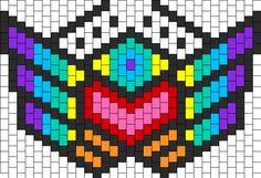 Rainbow Warrior Mask Bead Pattern