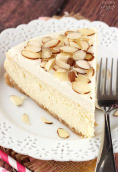 easy dessert recipes for brownies, cupcakes, cheesecake and more. Try my sugar cookie recipe or check out my tips for making the perfect cheesecake! Amaretto Cheesecake, Amaretto Cake, Cheesecake Recipes, Dessert Recipes, Amaretto Flavor, Cookie Recipes, Just Desserts, Delicious Desserts, Savoury Cake