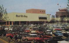 Vintage Postcard Photo 1960s MARSHALL FIELDS Shopping Mall Skokie Illinois
