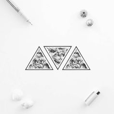 #White #ProductDesign #Font #Brand Black and white, Pattern, Black, Jewellery - Photo by @blackworkillustrations - Follow #extremegentleman for more pics like this!