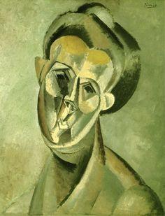 """Pablo Picasso - """"Tête de femme (Fernande Olivier)2"""". 1909"""